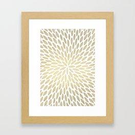 Just Gold Leaves Framed Art Print