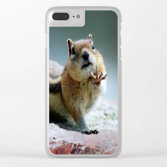 Talk To The Hand - OLena Art Clear iPhone Case
