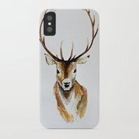 craftberrybush iPhone & iPod Cases featuring Buck - Watercolor by craftberrybush