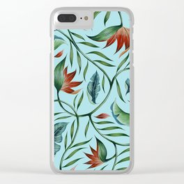 Paradise - Cyan Clear iPhone Case
