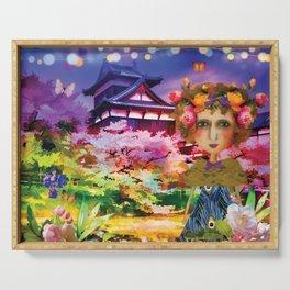 Himeji Castle Watercolour Serving Tray
