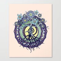 buddhism Canvas Prints featuring Tree of Knowledge by DebS Digs Photo Art