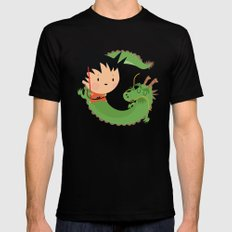 G is for goku X-LARGE Black Mens Fitted Tee