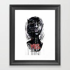 YES wolf Framed Art Print