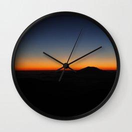 Last Light on Mount Saint Helens Wall Clock