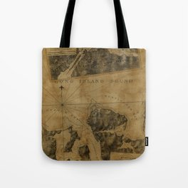 Map Of Oyster Bay 1778 Tote Bag
