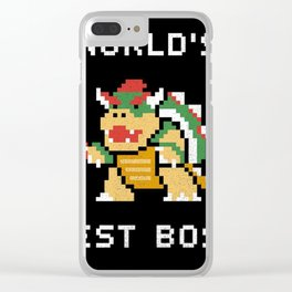 WORLD BEST BOSS Clear iPhone Case