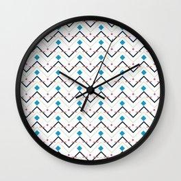 Zig Zag pattern design Wall Clock
