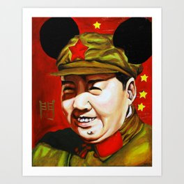 Mickey Mao Art Print