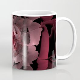 Abloom in Lusciously Crimson-Red Petals of a Rose Coffee Mug