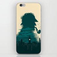 sherlock holmes iPhone & iPod Skins featuring Sherlock Holmes by Electra