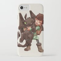hiccup iPhone & iPod Cases featuring Hiccup & Toothless - Childhood  by David Tako