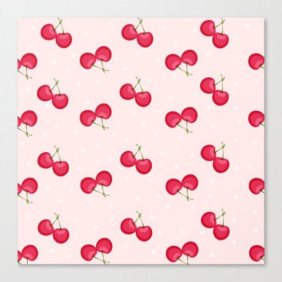 Sweet Cherries Unique Pattern Canvas Print
