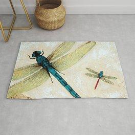 Zen Flight - Dragonfly Art By Sharon Cummings Rug