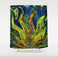scream Shower Curtains featuring Scream by Jim Pavelle