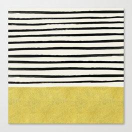 Gold x Stripes Canvas Print