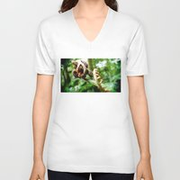 fern V-neck T-shirts featuring Fern by Sookie Endo