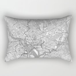 Washington Map Line Rectangular Pillow