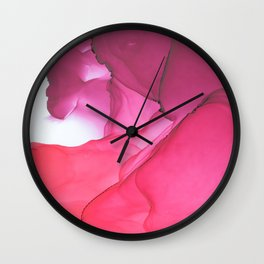 Red impression 1 Wall Clock
