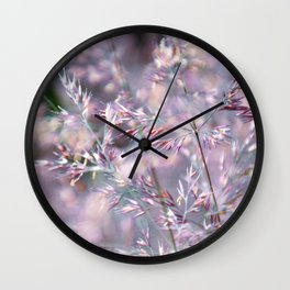 colourful grasses Wall Clock