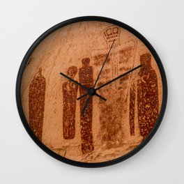 Great Gallery Holy Ghost Pictograph - Canyonlands National Park Wall Clock