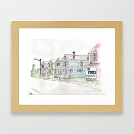 University of Dayton Student Neighborhood, Ghetto, UD Framed Art Print
