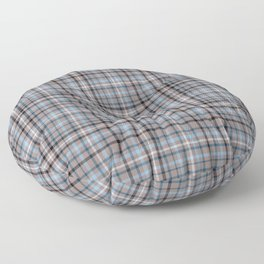 Blue & Brown Checked pattern Floor Pillow