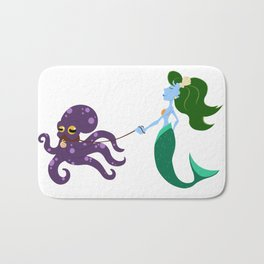 Mermaid and her Octopus Bath Mat