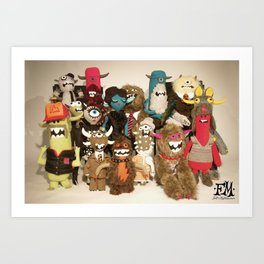 Sgt Felty's Lonely Hearts Club Band Art Print