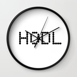 HODL YOUR CRYPTOCURRENCY BITCOIN LITECOIN RIPPLE ETHEREUM Wall Clock