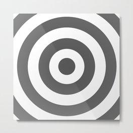 Target (Grey & White Pattern) Metal Print