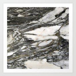 Carrara Marble Art Print