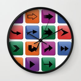 Arrow sign collection Wall Clock