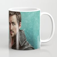 hook Mugs featuring Hook by Ravenno
