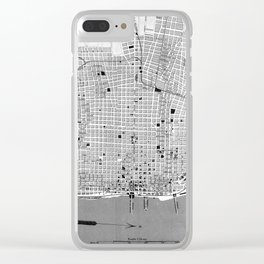 Vintage Map of Buenos Aires Argentina (1888) Clear iPhone Case