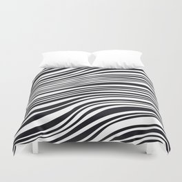 Modern Black & White Stipes - Zebra Animal Duvet Cover