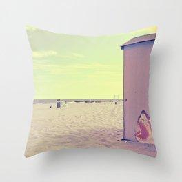 A Nice Summer Swim Throw Pillow