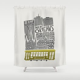 New Orleans City Cityscape Shower Curtain