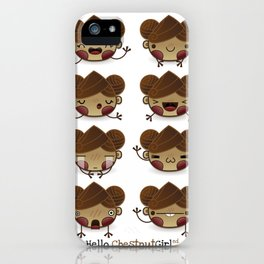 Chestnut Girl Mood iPhone Case