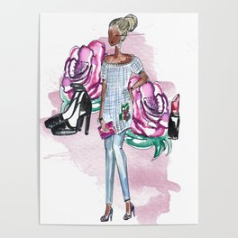 Flowers and Fashion Poster
