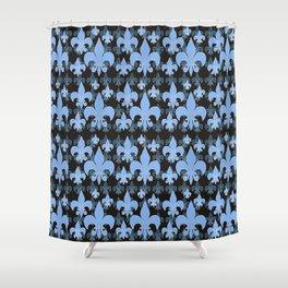 Fleur de lis BLUES Shower Curtain