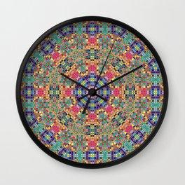 Stained Glass Mandala Wall Clock