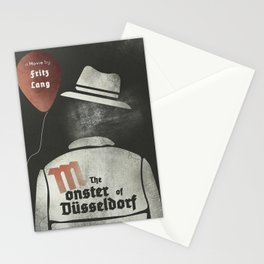Fritz Lang, M The monster of Düsseldorf, Peter Lorre, minimalist movie, thriller, German film Stationery Cards