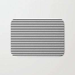 White Black Stripe Minimalist Bath Mat
