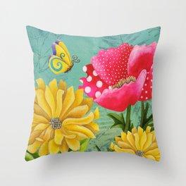 Wondrous Garden Throw Pillow
