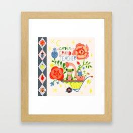 A Garden is a Grand Teacher Framed Art Print