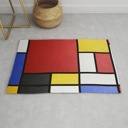 Mondrian in a Leather-Style Rug