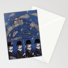 Four Men Waiting Stationery Cards