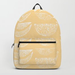 Textured Crescents in Butter Yellow Backpack