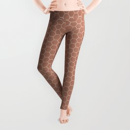 Sherwin Williams Cavern Clay Honeycomb Pattern Leggings